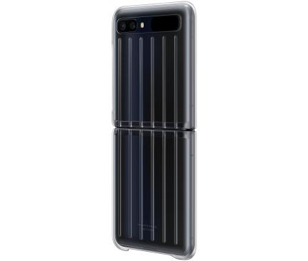 Husa TPU Samsung Galaxy Z Flip 5G F707 / Samsung Galaxy Z Flip F700, Clear Cover, Transparenta, Blister EF-QF707CTEGEU