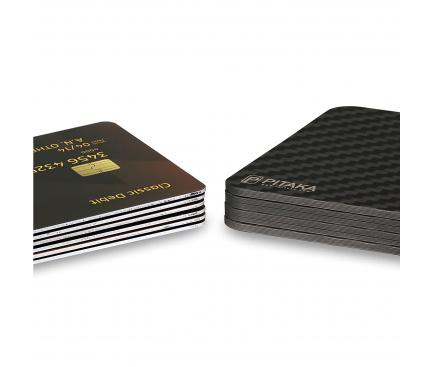 Portofel Magnetic Modular Pitaka MagEZ Wallet UE, Fibra Carbon, Negru, Blister AC6001 (UE)