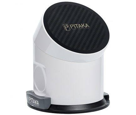 Incarcator Retea Wireless Pitaka MagDock, Fast Wireless (10W / 7.5W), 7800mA, Fibra Aramida, Alb, Blister MD1001P
