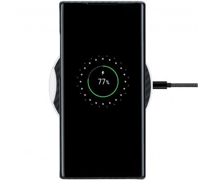 Husa Fibra Aramida Pitaka MagEZ pentru Samsung Galaxy Note 10 N970 / Samsung Galaxy Note 10 5G N971, Car Case Magnet, Tesatura diagonala (Twill), Neagra Gri KN1001