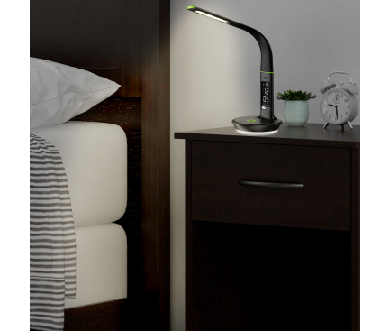 Lampa Multifunctionala Goui Nuru +D, Fast Wireless 10W + Power Delivery + Quick Charge 3, Neagra, Blister G-LAMPQIPD10W