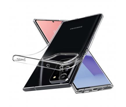 Husa TPU Spigen Liquid Crystal pentru Samsung Galaxy Note 20 Ultra N985 / Samsung Galaxy Note 20 Ultra 5G N986, Transparenta, Blister ACS01389