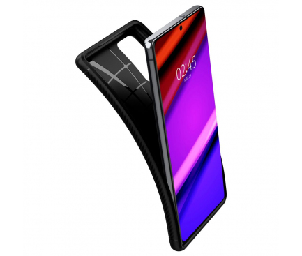 Husa TPU Spigen Rugged Armor pentru Samsung Galaxy Note 20 N980 / Samsung Galaxy Note 20 5G N981, Neagra, Blister ACS01417