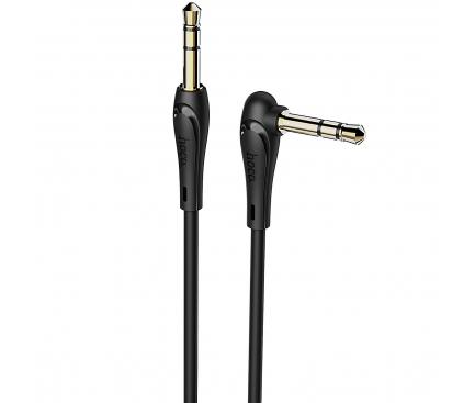 Adaptor Audio 3.5 mm la 3.5 mm HOCO UPA14, 1 m, Negru, Blister