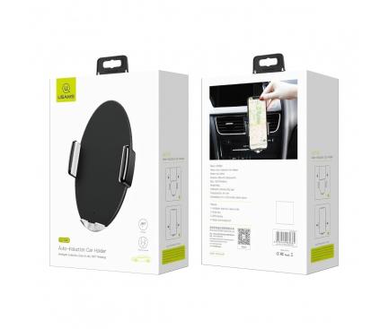 Incarcator Auto Wireless Usams ZJ41ZJ01, Senzor IR, Negru, Blister