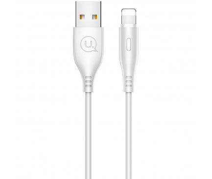 Cablu Date si Incarcare USB la Lightning Usams U18, 2A Fast Charge, 1 m, Alb, Blister SJ266USB02