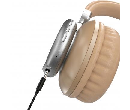 Handsfree Casti Bluetooth Dudao X22, cu slot card MicroSD, Auriu, Blister