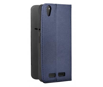 Husa Piele OEM Smart Magnet pentru Huawei P40 lite E / Huawei Y7p, Bleumarin, Bulk