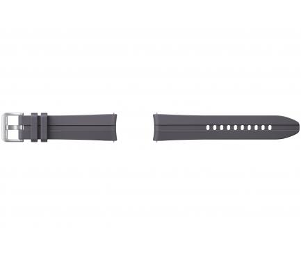 Curea ceas Galaxy Watch3, Ridge Sport, Latime 20mm, Marime S/M, Gri, Blister  ET-SFR85SJEGEU
