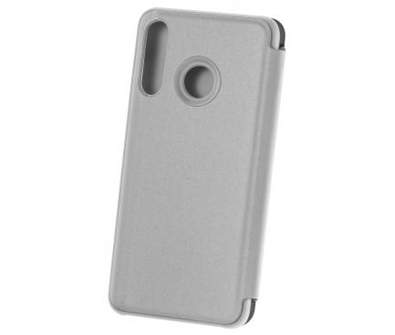 Husa Plastic OEM Clear View pentru Xiaomi Redmi 9A, Argintie, Blister