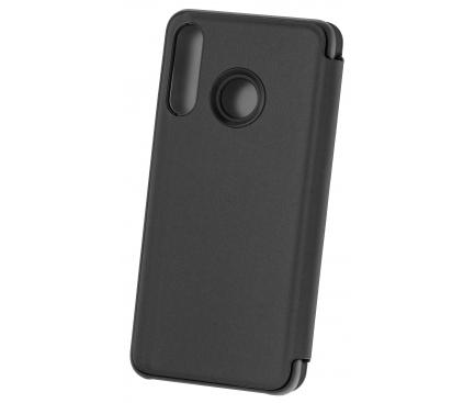 Husa Plastic OEM Clear View pentru Xiaomi Redmi 9A, Neagra, Blister
