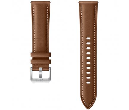 Curea piele Ceas bluetooth Samsung Galaxy Watch 3, Latime 20mm, Marime S/M, Maro Blister Originala ET-SLR85SAEGEU