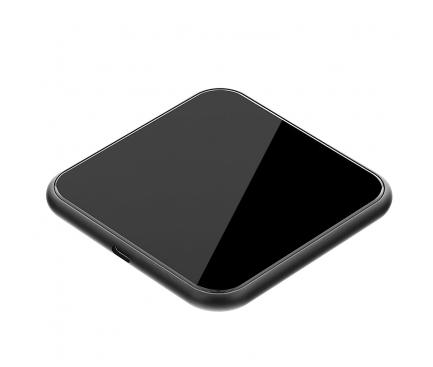 Incarcator Retea Wireless Tellur Slim, Certificat Qi, 10W, Negru, Blister TLL151241