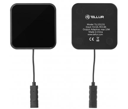 Incarcator Retea Wireless Tellur Ultra Slim, Quick Charge, 10W, Negru TLL151231