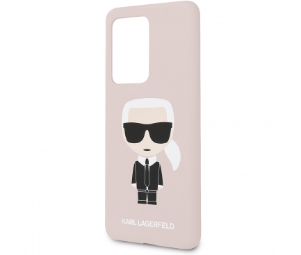 Husa TPU Karl Lagerfeld Ikonik Full Body pentru Samsung Galaxy S20 Ultra G988 / Samsung Galaxy S20 Ultra 5G G988, Roz, Blister KLHCS69SLFKPI