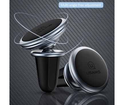 Suport Auto Universal Usams US-ZJ047 Lead-Tu pentru Telefon, Magnetic, Gri, Blister