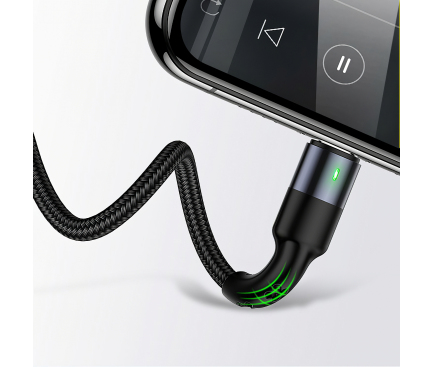Cablu Incarcare USB - 2 x Lightning / USB Type-C / MicroUSB Usams U26, 2A, 3 m, Multicolor SJ413USB01