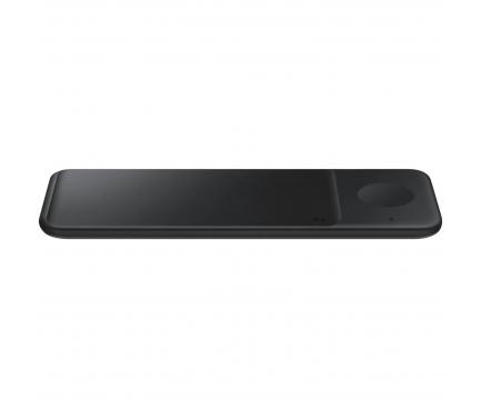 Incarcator Retea Wireless Samsung Trio EP-P6300, Pentru Telefon / Ceas / Casti QI, Fast Wireless, 9W, Negru EP-P6300TBEGEU