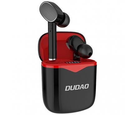 Handsfree Casti Bluetooth Dudao U12, MultiPoint, Negru Rosu