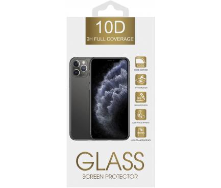 Folie Protectie Ecran OEM pentru Apple iPhone XR / Apple iPhone 11, Sticla securizata, Full Face, Full Glue, 10D, 9H Neagra, Blister