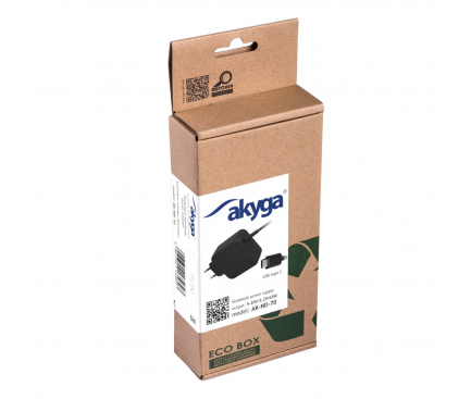 Incarcator Priza Laptop Akyga AK-ND-70, Type C, 65W, 1.2m, Negru, Blister