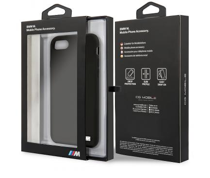 Husa TPU BMW M pentru Apple iPhone 8 / Apple iPhone SE (2020), Neagra, Blister BMHCI8MSILBK