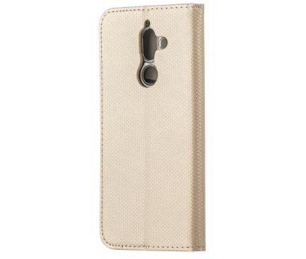 Husa Piele OEM Smart Magnet pentru Motorola Moto G9 Play, Aurie, Bulk