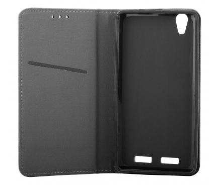 Husa Piele OEM Smart Magnet pentru Motorola Moto G9 Play, Bleumarin, Bulk