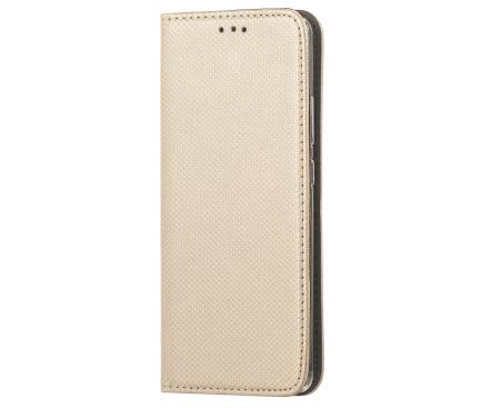 Husa Piele OEM Smart Magnet pentru Motorola Moto G Pro, Aurie, Bulk