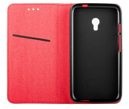 Husa Piele OEM Smart Magnet pentru Motorola Moto G Pro, Rosie, Bulk
