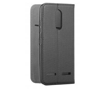 Husa Piele OEM Smart Magnet pentru Motorola Moto G Pro, Neagra, Bulk