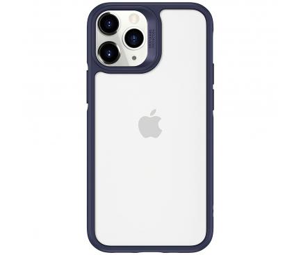 Husa TPU ESR Ice Shield pentru Apple iPhone 12 / Apple iPhone 12 Pro,  cu spate din sticla, Albastra, Blister