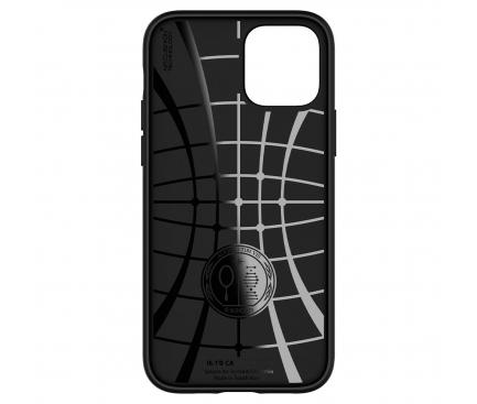 Husa TPU Spigen Core Armor pentru Apple iPhone 12 / Apple iPhone 12 Pro, Neagra, Blister ACS01515