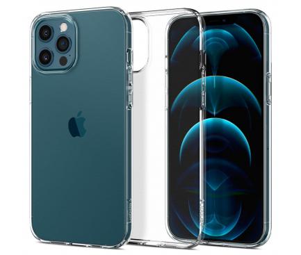 Husa TPU Spigen Liquid Crystal pentru Apple iPhone 12 / Apple iPhone 12 Pro, Transparenta, Blister ACS01697