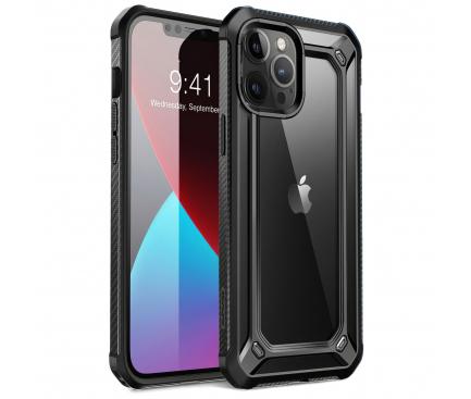 Husa Plastic - TPU Supcase EXO pentru Apple iPhone 12 / Apple iPhone 12 Pro, Neagra, Blister