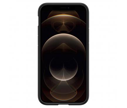 Husa Plastic - TPU Spigen ULTRA HYBRID pentru Apple iPhone 12 Pro Max, Neagra Transparenta, Blister ACS01619