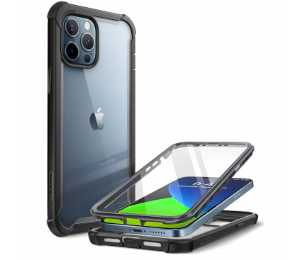 Husa Plastic - TPU Supcase Iblsn Ares pentru Apple iPhone 12 / Apple iPhone 12 Pro, Full Cover, Neagra, Blister