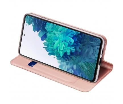 Husa Piele DUX DUCIS Skin Pro pentru Samsung Galaxy S20 FE G780, Roz Aurie, Blister