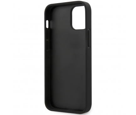 Husa Fibra Carbon BMW pentru Apple iPhone 12 / Apple iPhone 12 Pro, M Collection, Neagra, Blister BMHCP12MPUCARTCBK