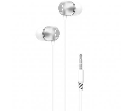 Handsfree Casti In-Ear XO Design EP26, Cu microfon, 3.5 mm, Alb, Blister