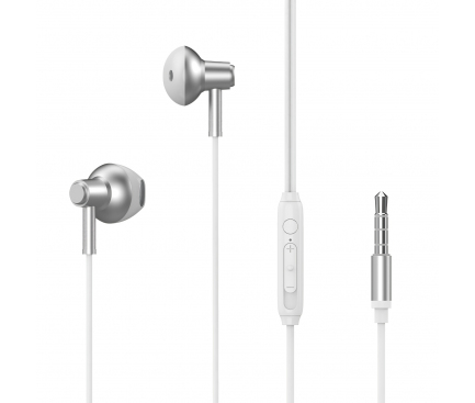Handsfree Casti In-Ear XO Design EP19, Cu microfon, 3.5 mm, Alb, Blister