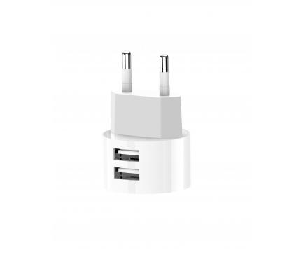 Incarcator Retea USB XO Design L62, 2 X USB, 2.4A, Alb, Blister