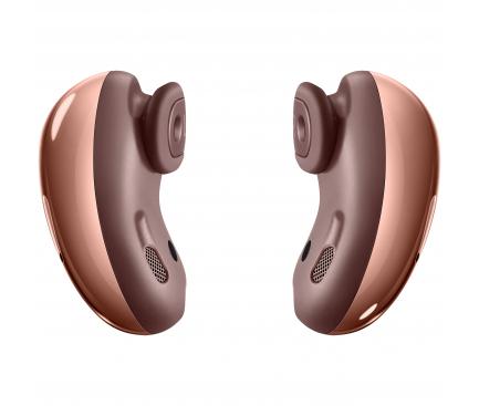 Handsfree Casti Bluetooth Samsung Galaxy Buds Live, SinglePoint, Bronz, Resigilat, Blister SM-R180NZNA
