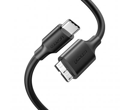 Cablu Date si Incarcare MicroUSB 3.0 la USB Type-C UGREEN US312, 1 m, Negru, Bulk