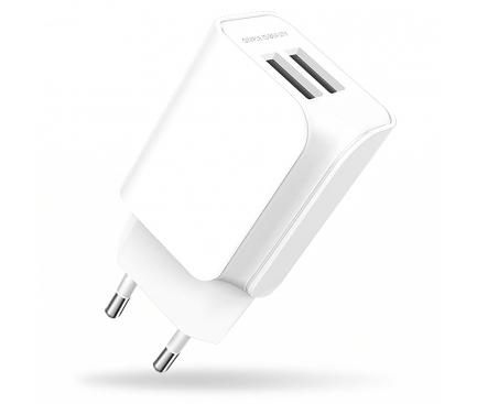 Incarcator Retea USB XO Design L35D, 2 X USB, 2.1A, Alb, Blister