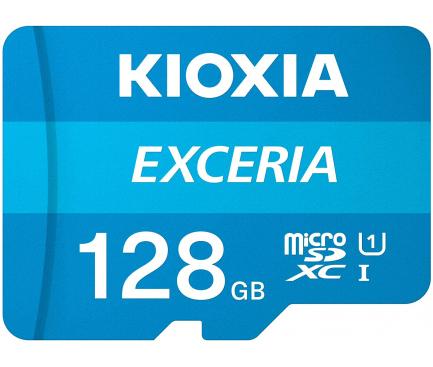 Card Memorie MicroSD KIOXIA Exceria (M203) cu Adaptor, 128Gb, Clasa 10 / UHS-1 U1 LMEX1L128GG2