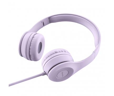 Handsfree Casti HOCO Graceful W21, On-Ear, Cu microfon, 3.5mm, Mov, Blister