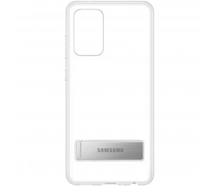 Husa TPU Samsung Galaxy A52, Standing Cover, Transparenta EF-JA525CTEGWW