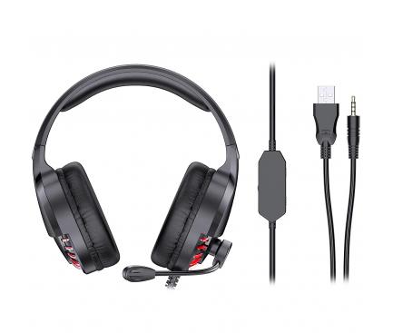 Casti Gaming Awei ES-770i, cu microfon, Negre