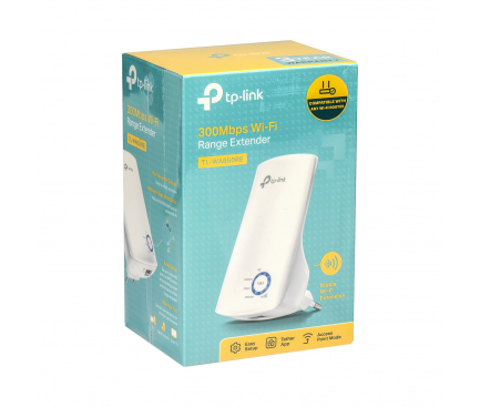 Range Extender Wireless TP-LINK TL-WA850RE, 300 Mbps, Alb, Blister